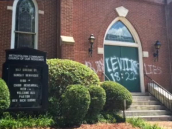 Church With Openly Gay Pastor Vandalized With You'll Burn