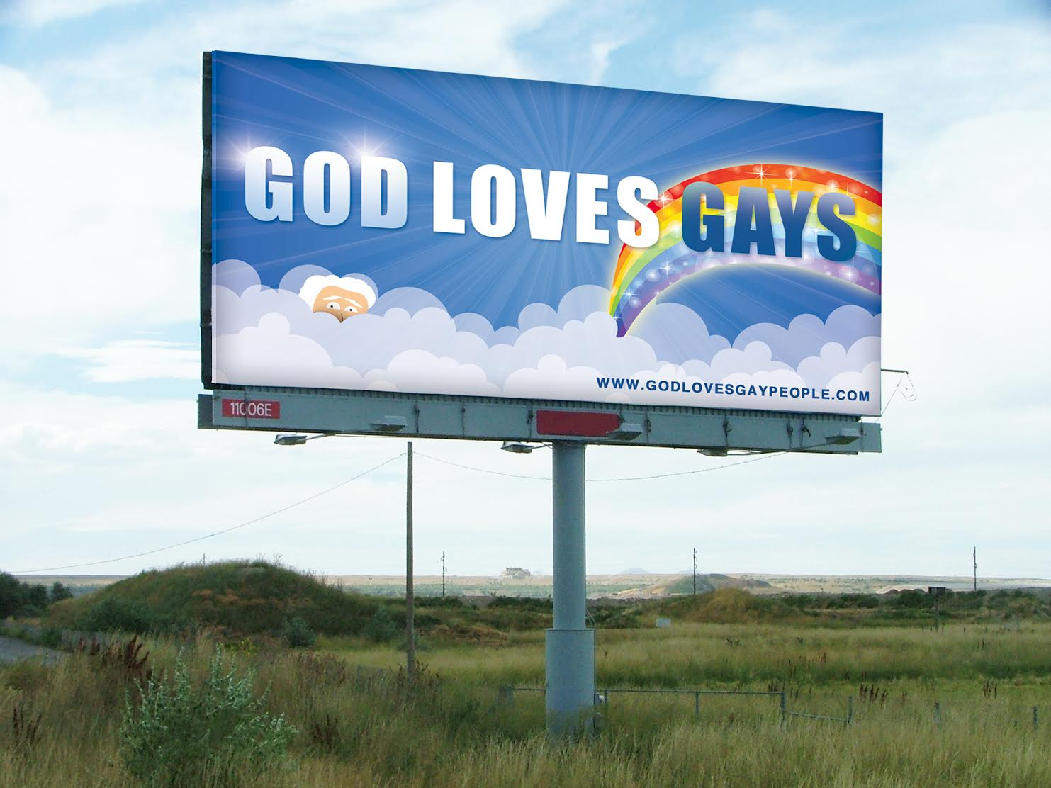 'God' of Facebook crowdfunds billboard saying he loves gays to spite Westboro Baptists