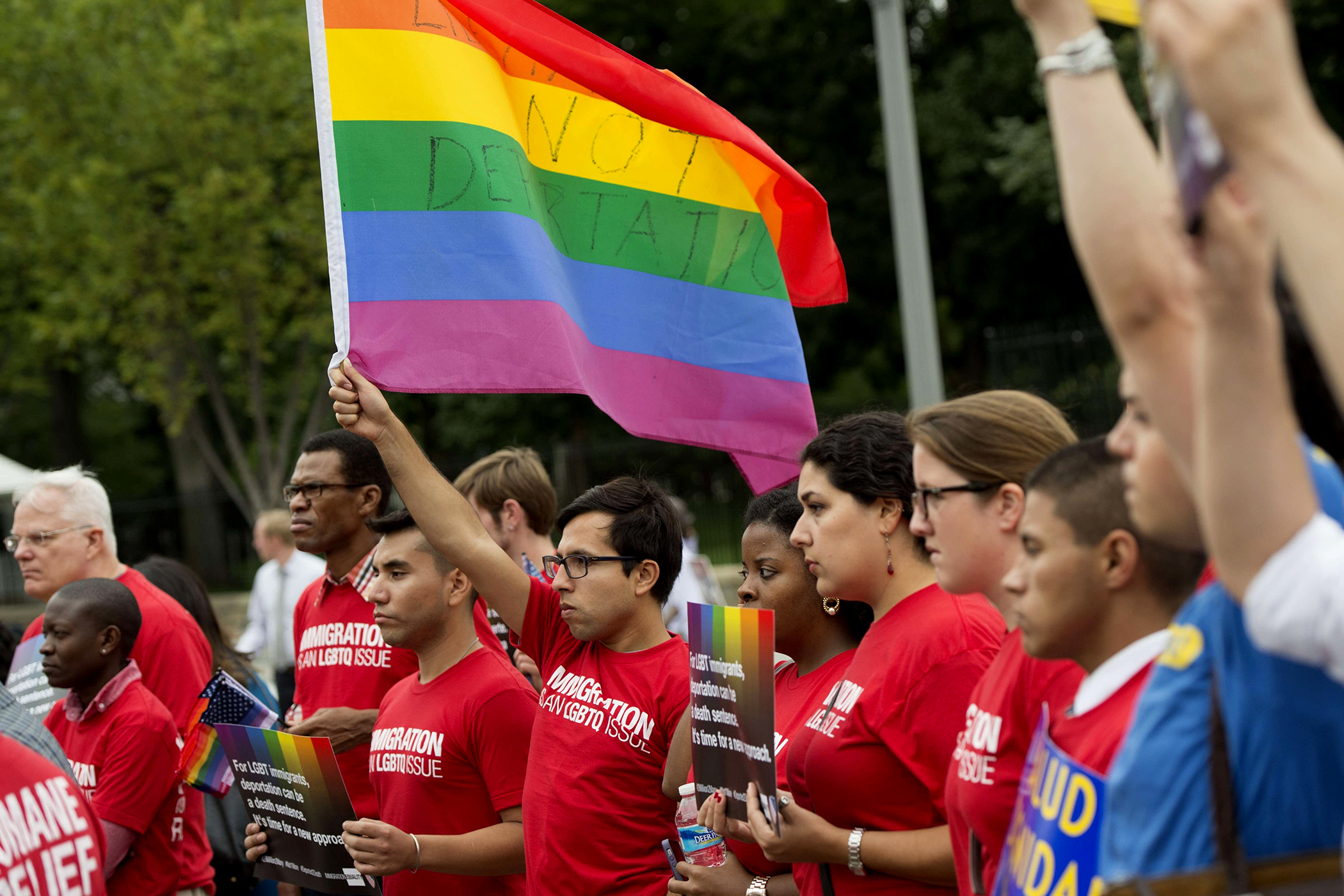 LGBT immigrants protest against 'death sentence' deportations