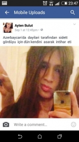 Next hate crime in Azerbaijan - transvestite person did suicide
