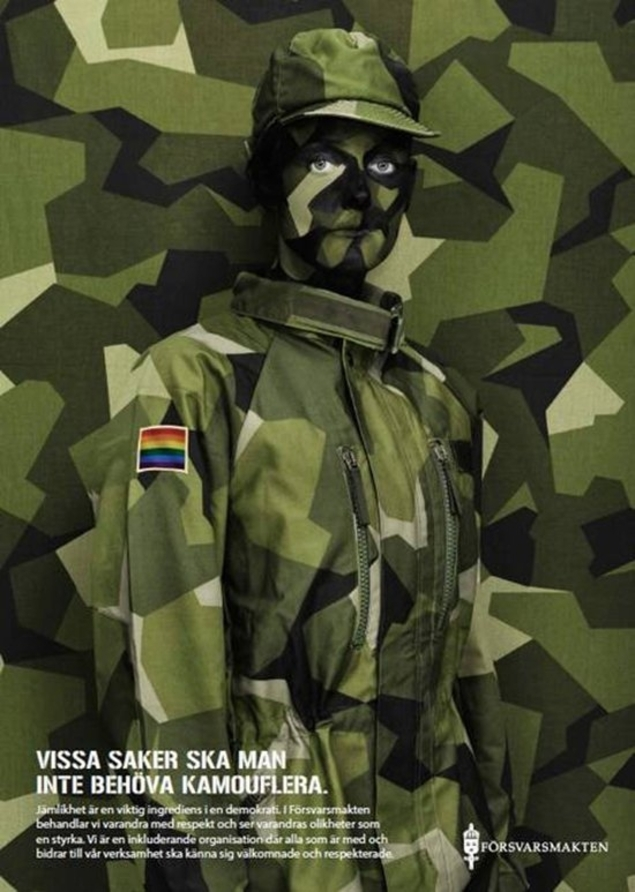 Sweden Armed Forces launches pride campaign: Some things you should not have to camouflage