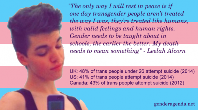 US trans teen Leelah Alcorn takes her own life in suicide over society and parental non-acceptance